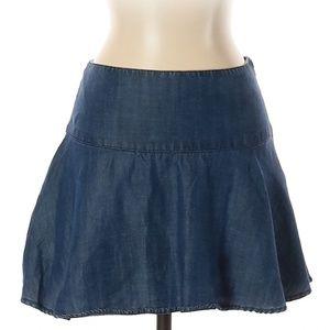Abercrombie & Fitch | denim chambray mini skirt